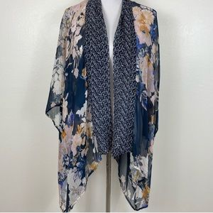 Anthropologie E by Eloise Silk Floral Kimono